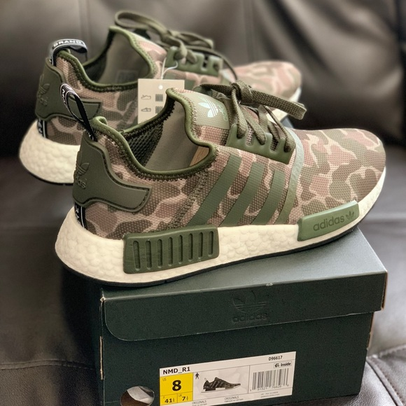 new product 04989 e60bb Adidas nmd r1 camo Size 8 Men's new